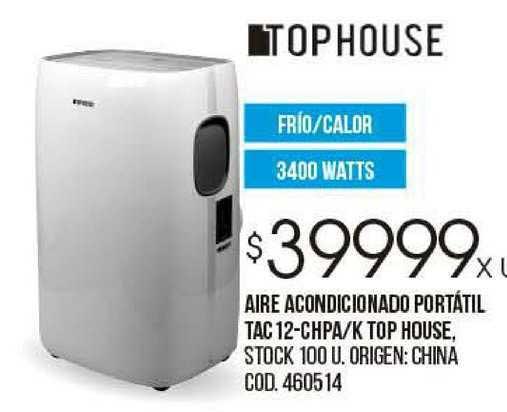 Coto Aire Acondicionado Portátil Tac 12-CHPA-K Top House