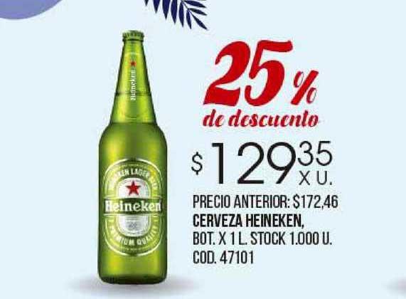 Coto Cerveza Heineken 25% De Descuento