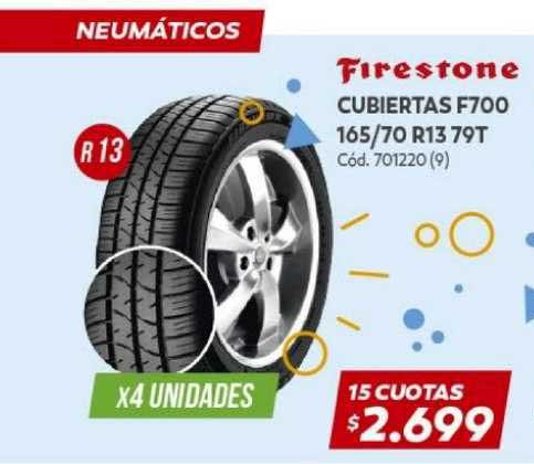 Naldo Lombardi Firestone Cubiertas F700 165 70 R13 79t