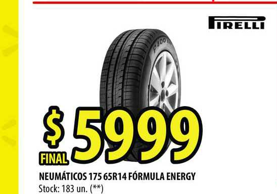 Punto Mayorista Neumáticos 175 65r14 Fórmula Energy Firelli