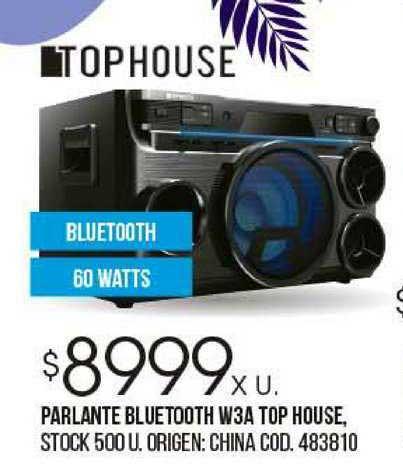 Coto Parlante Bluetooth W3A Top House