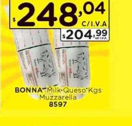 Hiper May Bonna Milk Queso Kgs Muzzarella