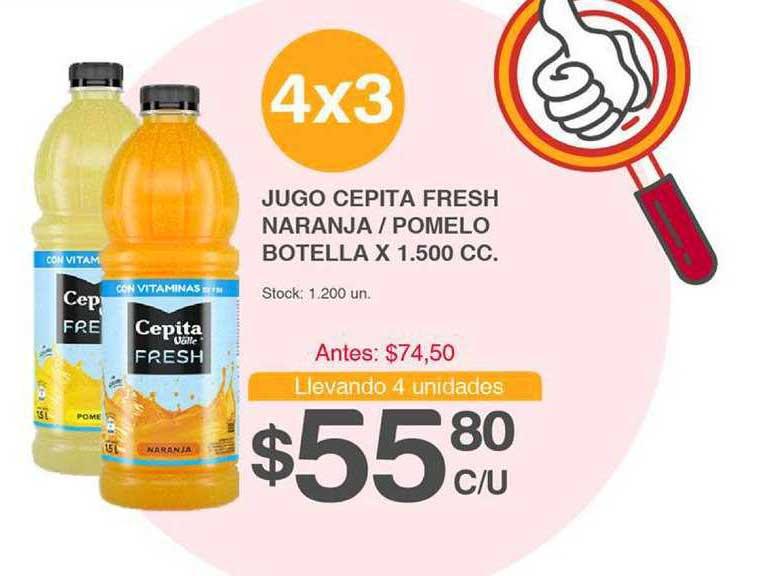 Supermercados Tadicor Jugo Cepita Fresh Naranja-pomelo Botella