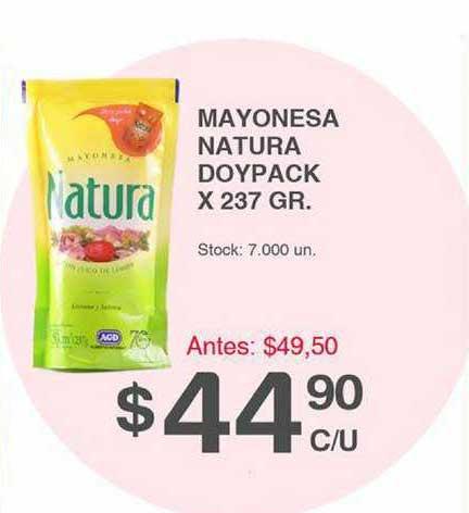 Supermercados Tadicor Mayonesa Natura Doypack