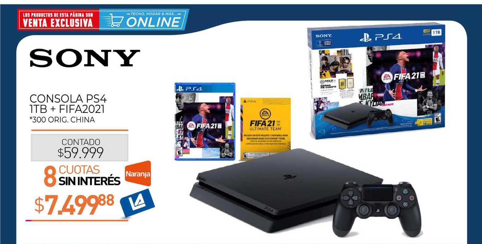 La Anónima Sony Consola PS4 1TB + FIFA2021