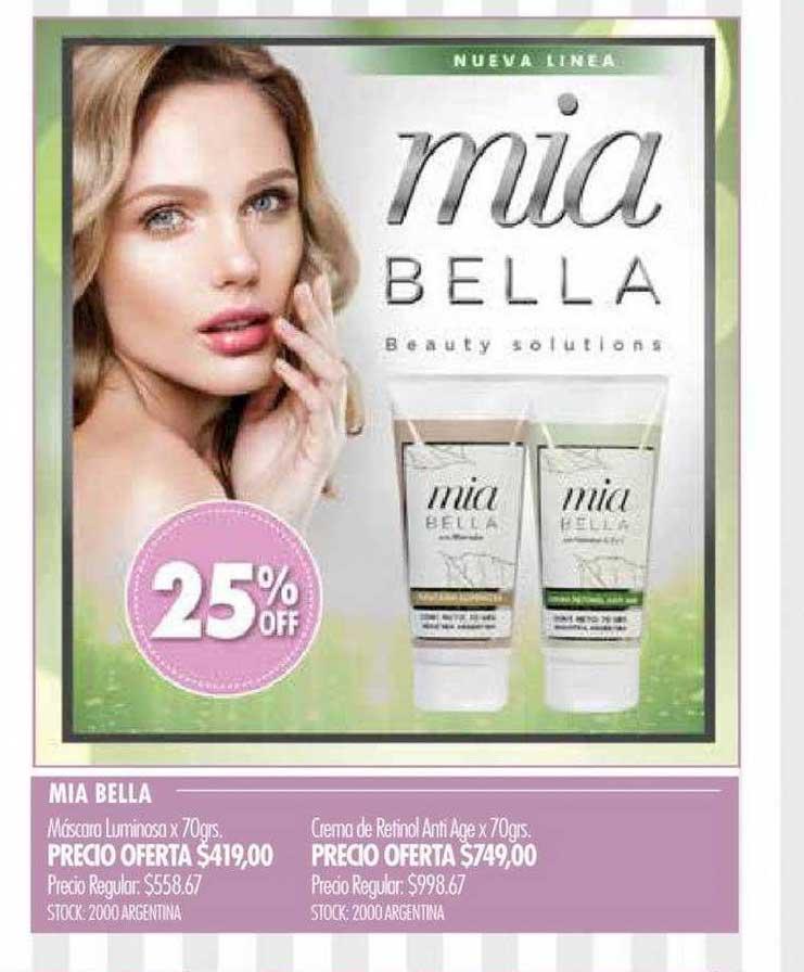 Pigmento Mia Bella Máscara Luminosa Crema Retinol Anti Age