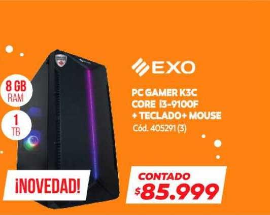 Naldo Lombardi PC Gamer K3C Core I3-9100F + Teclado + Mouse