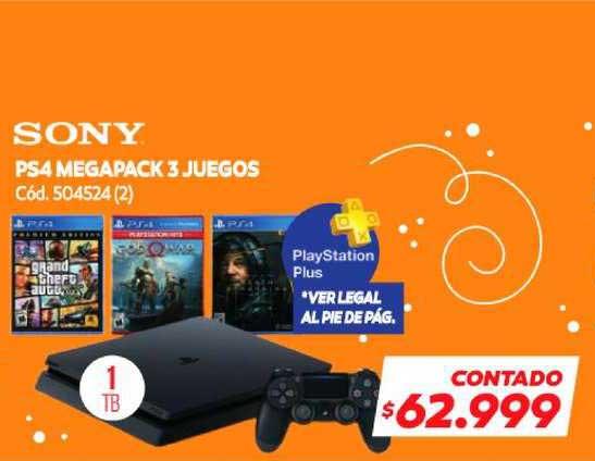 Naldo Lombardi Sony PS4 Megapack 3 Juegos