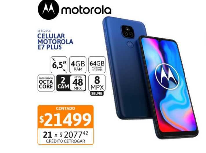 Cetrogar Celular Motorola E7 Plus