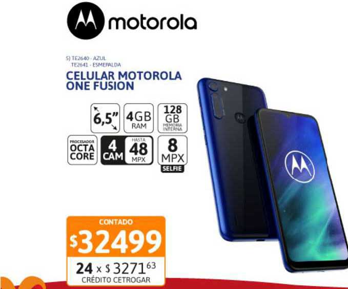 Cetrogar Celular Motorola One Fusion