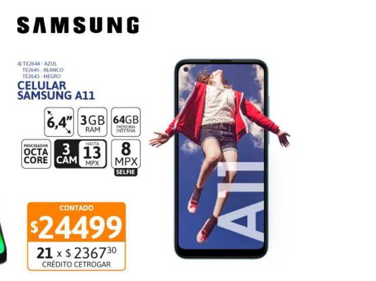 Cetrogar Celular Samsung A11