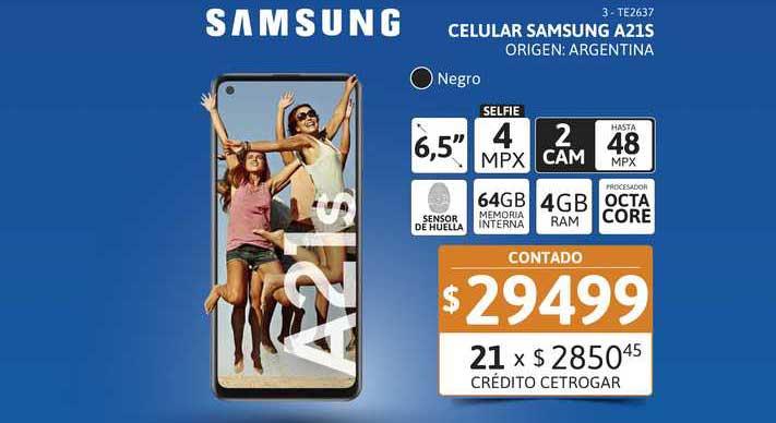 Cetrogar Celular Samsung A21S