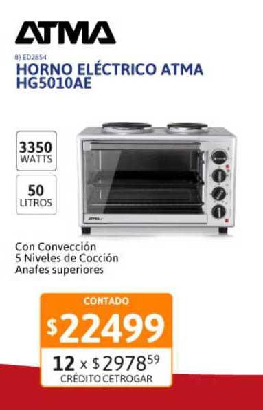Cetrogar Horno Eléctrico Atma HG5010AE