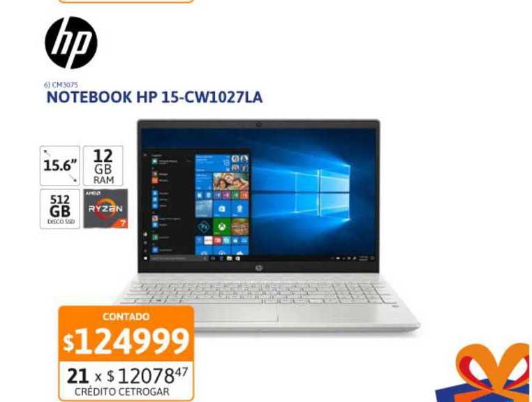 Cetrogar Notebook HP 15-CW1027LA