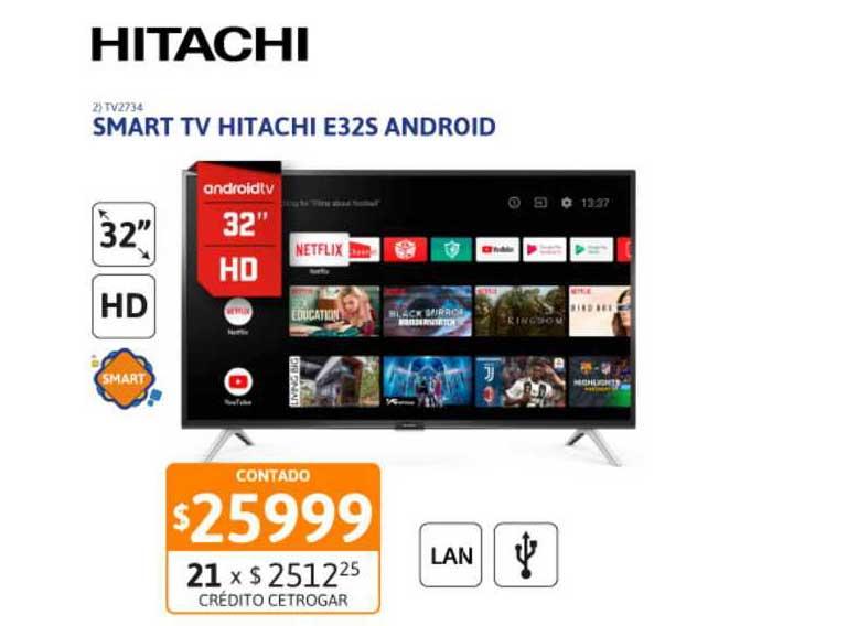 Cetrogar Smart TV Hitachi E32S Android