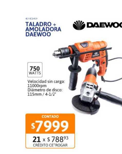Cetrogar Taladro + Amoladora Daewoo