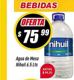 Supermercados Comodin Agua De Mesa Nihuil 6.5 Lts