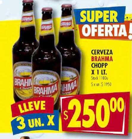 Supermercados Mariano Max Cerveza Brahma Chopp