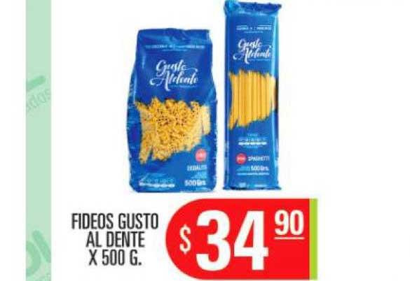 Supermercados Caracol Fideos Gusto Al Dente X 500 G.