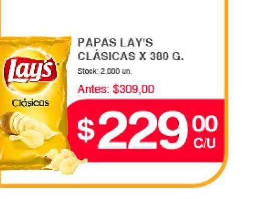 Supermercados Tadicor Papas Lay's Clásicas X 380 G.