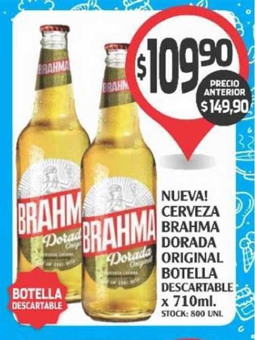 Supermercados Malambo Cerveza Brahma Dorada Original Botella Descartable