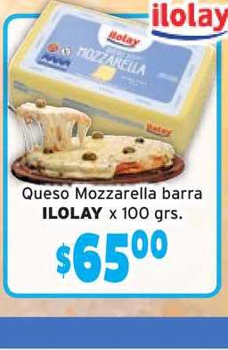 Único Supermercados Queso Mozzarella Barra Ilolay