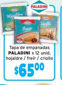 Único Supermercados Tapa De Empanadas Paladini