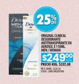 Pigmento Original Clinicla Desodorante Antitranspirante En Aerosol Man Woman