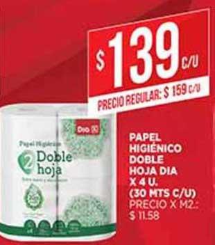 Supermercados DIA Papel Higiénico Doble Hoja Dia