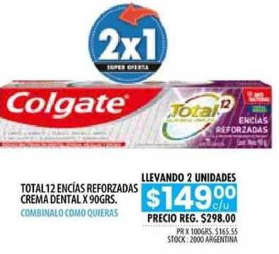 Pigmento Total 12 Encías Reforzadas Crema Dental