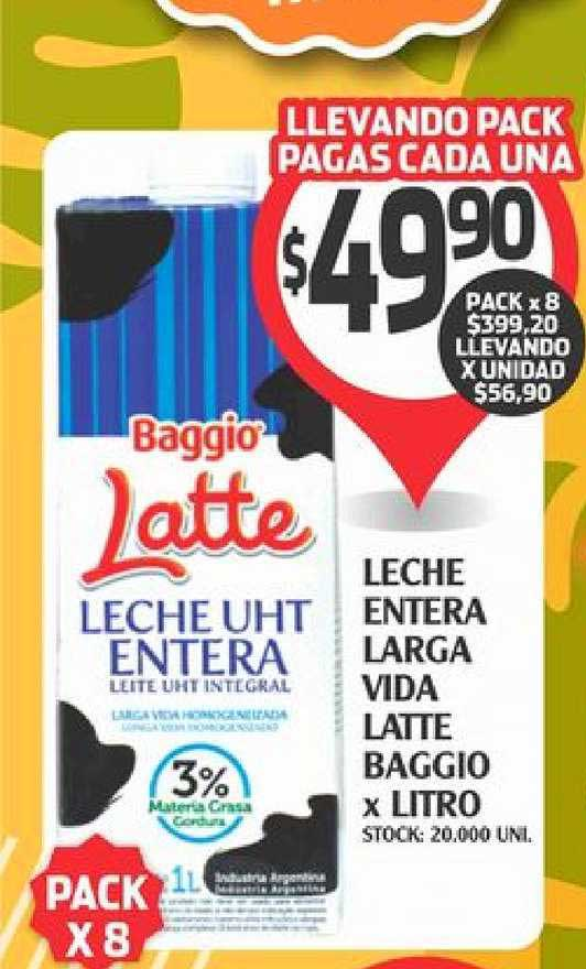 Supermercados Malambo Leche Entera Larga Vida Latte Baggio X Litro