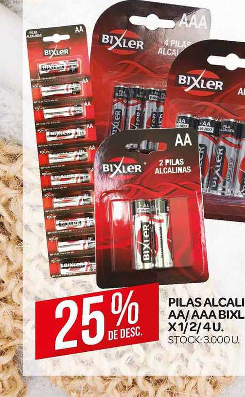Supermercados DIA Pilas Alcalinas AA-AAA Bixler X 1-2-4u.