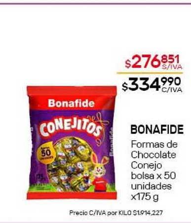 Nini Mayorista Bonafide Formas De Chocolate Conejo Bolsa X 50 Unidades