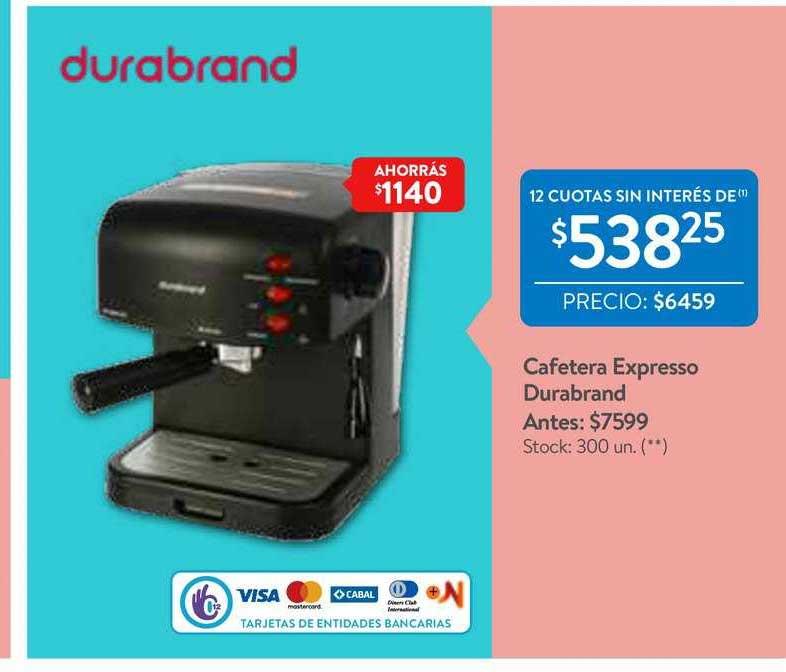 Walmart Cafetera Expresso Durabrand