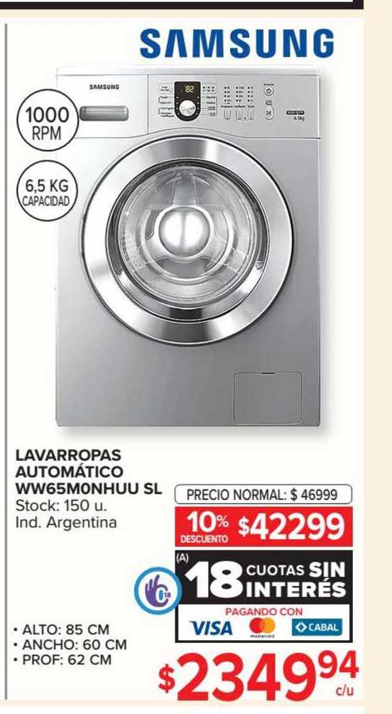 Carrefour Lavarropas Automático WW65MONHUU SL