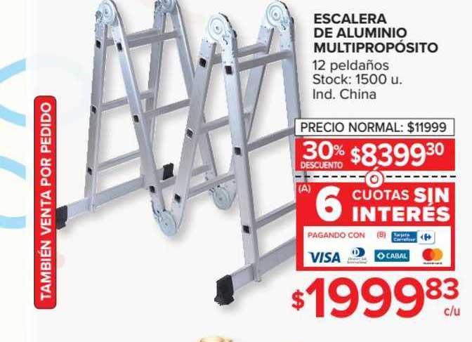Carrefour Escalera De Aluminio Multipropósito