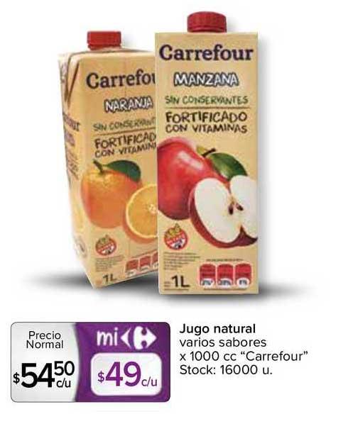 Carrefour Express Jugo Natural Varios Sabores X 1000 Cc