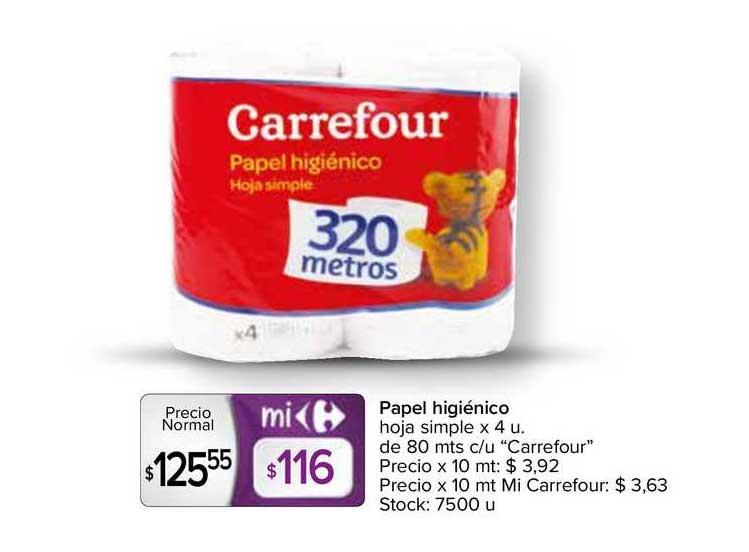Carrefour Express Papel Higiénico Hoja Simple X 4 U. De 80 Mts C-u