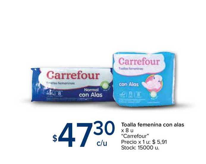 Carrefour Express Toalla Femenina Con Alas X 8 U