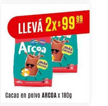 Arcoiris Supermercados Cacao En Polvo Arcoa X 180g