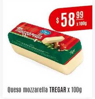 Arcoiris Supermercados Queso Mozzarella Tregar X 100g