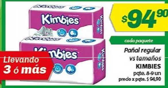 Almacor Pañal Regular Vs Tamaños Kimbies