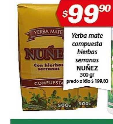 Almacor Yerba Mate Compuesta Hierbas Serranas Nuñez