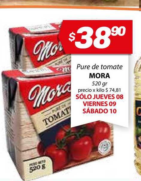 Almacor Pure De Tomate Mora