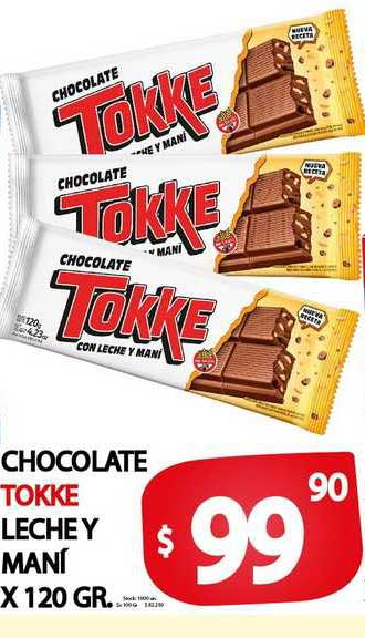 Supermercados Mariano Max Chocolate Tokke Leche Y Maní