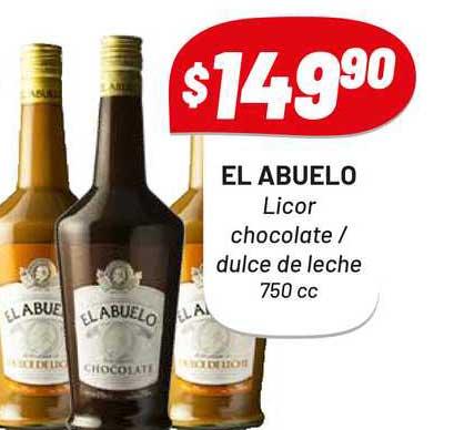Almacor El Abuelo Licor Chocolate - Dulce De Leche