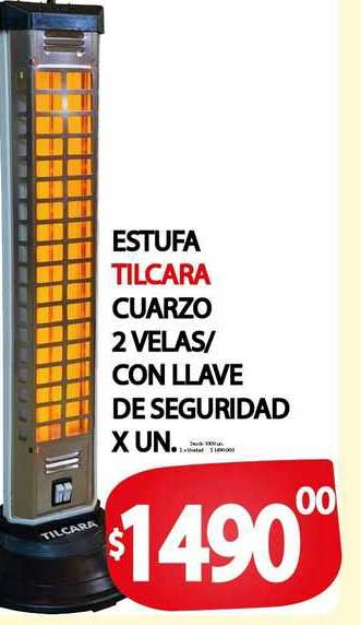 Supermercados Mariano Max Estufa Tilcara Cuarzo 2 Velas Con Llave De Seguridad