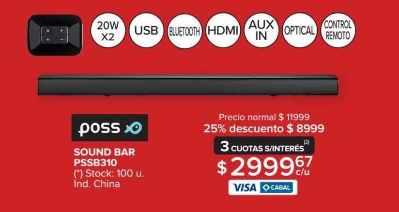 Carrefour Maxi Poss Sound Bar PSSB310