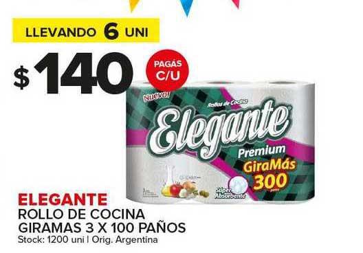 Carrefour Maxi Elegante Rollo De Cocina Giramas 3 X 100