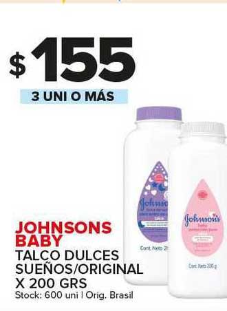 Carrefour Maxi Johnsons Baby Talco Dulces Sueños Original
